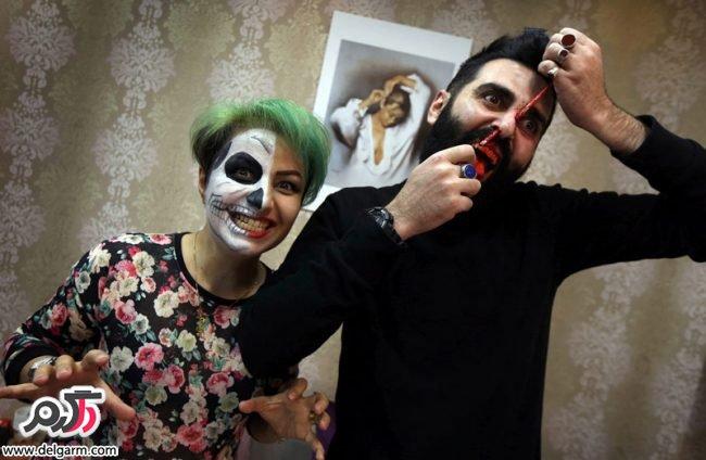 مدل آرایش هالووین و آرايش مدل خون آشام