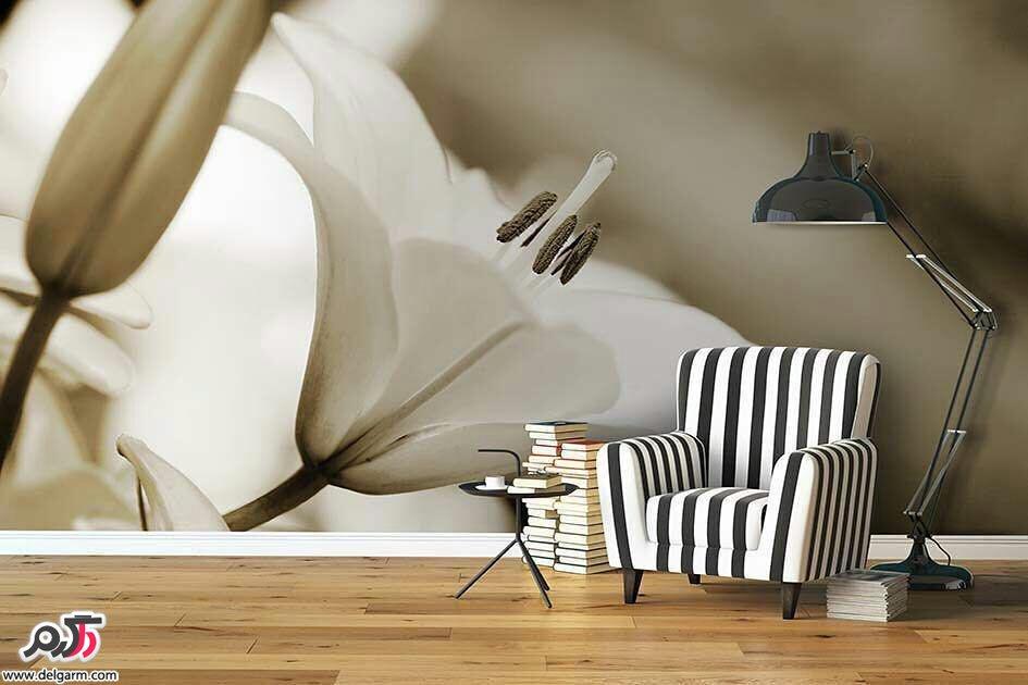 کاغذ دیواری های شیک برای اتاق پذیرایی