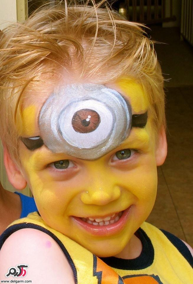 نقاشی زیبا روی چهره کودکان
