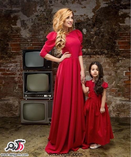 مدلهای جدید لباس مجلسی ست مادر و دختر