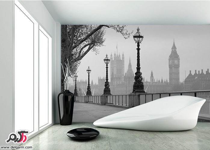 کاغذ دیواری مشکی و سفید