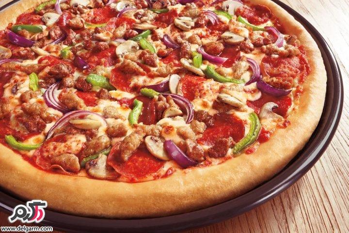 طرز تهیه پیتزا مارگاریتا با خمیر ایتالیایی