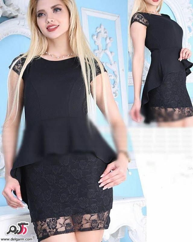 لباس مشکی مدل ماهی آخرین مدل های لباس مجلسی بلند شیک ۲۰۱۸