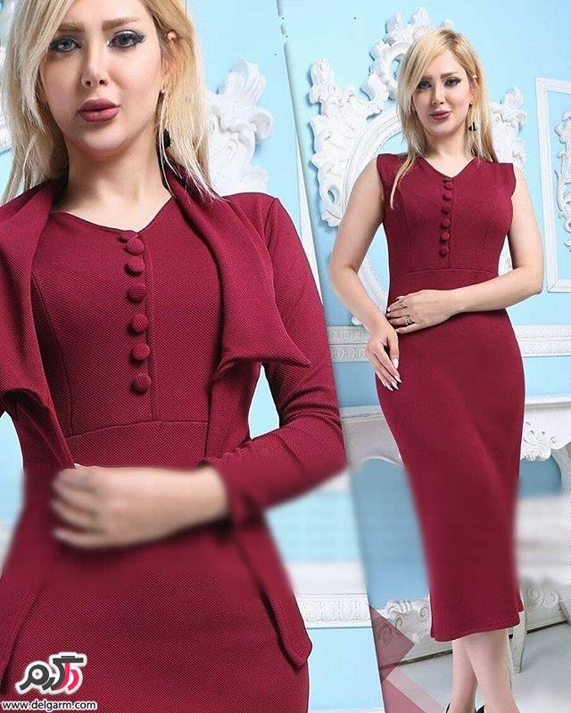 مدل لباس مجلسی پوشیده و بلند جدید 2018