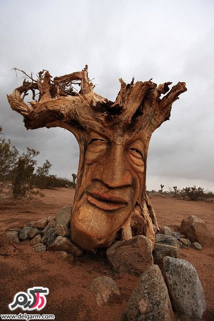 کنده کاری روی چوب با ایده های ترسناک و شگفت انگیز + تصاویر