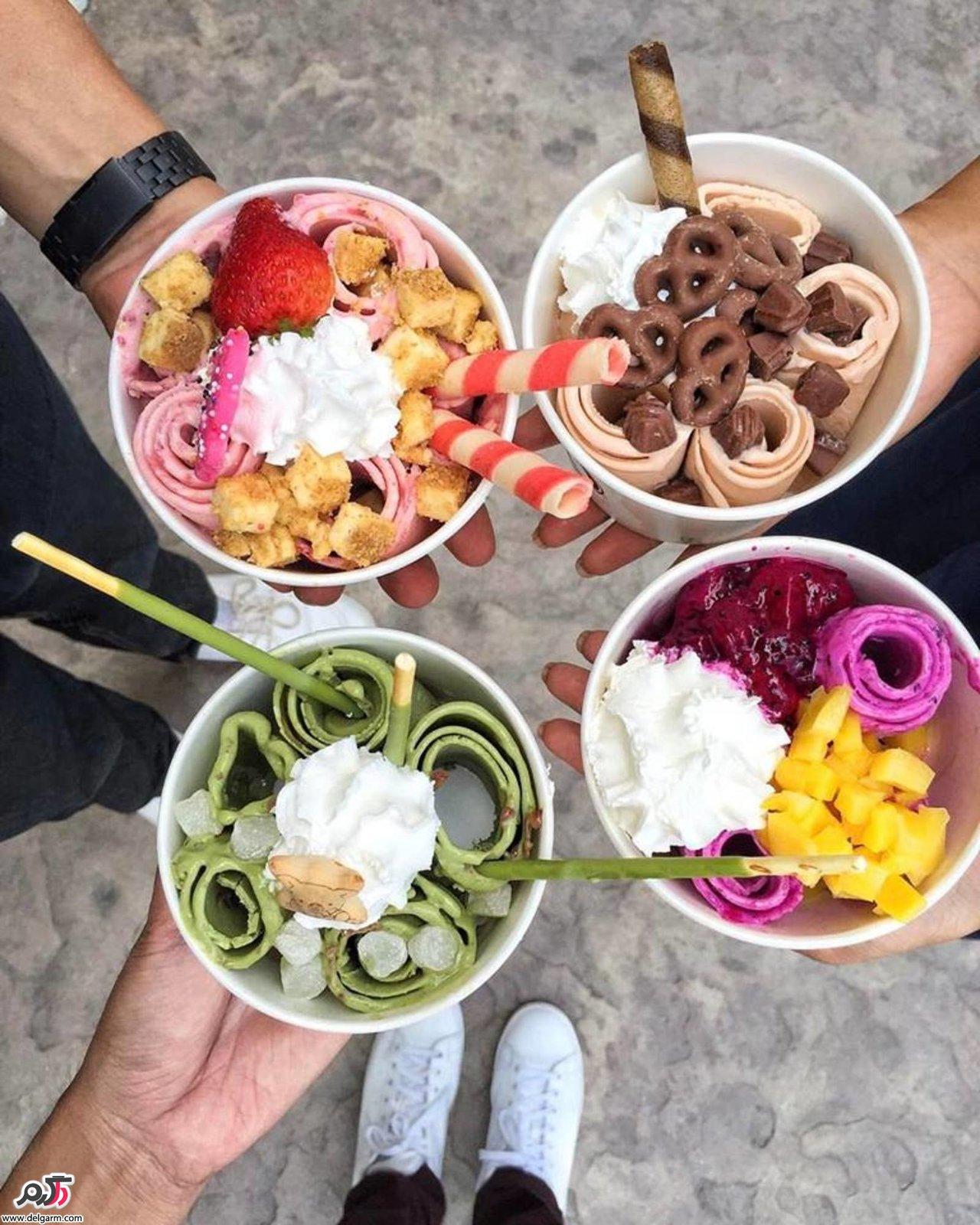 بهترین و متنوع ترین بستنی های جهان