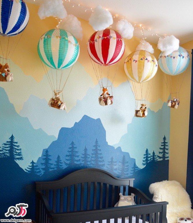 تزئین دیوار اتاق کودک