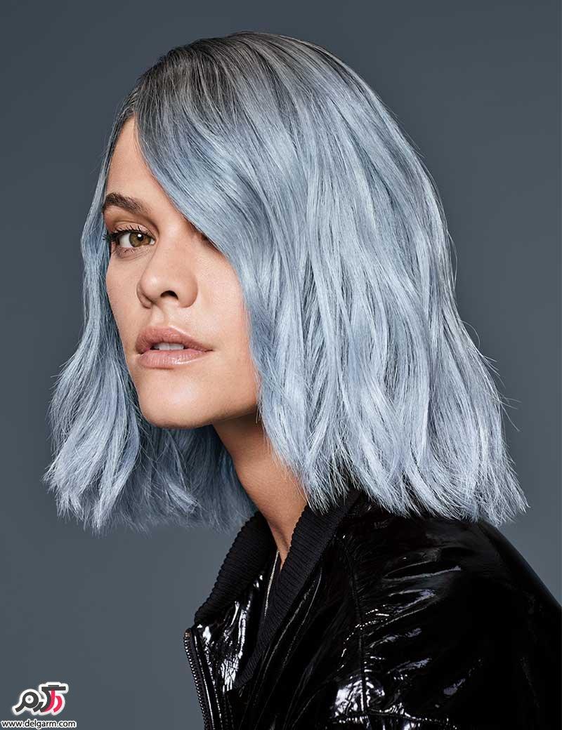 اموزش رنگ موی صدفی مرواریدی