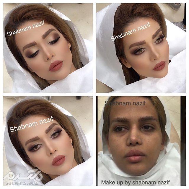 عکس عروس قبل و بعد از آرایش