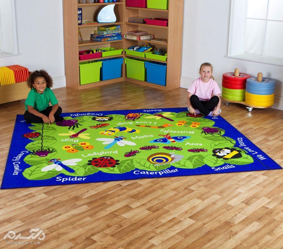 مدل فرش و گلیم فانتزی اتاق کودک