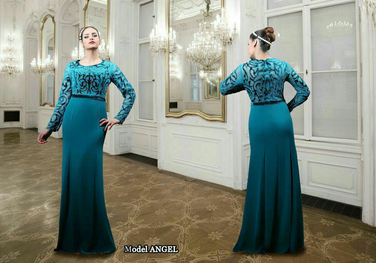 مدل لباس مجلسی بلند زنانه شیک 2015