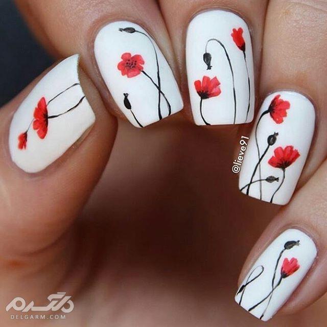 طراحی ناخن با گل های بهاری، یک ایده دخترانه ^.^ ، زیبا و منحصر به فرد 1
