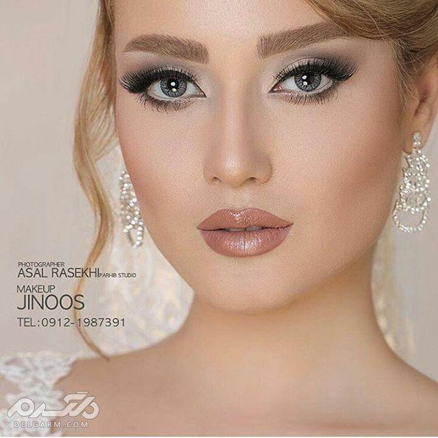 40 عکس از زیباترین مدل آرایش عروس ایرانی جدید 2018 97