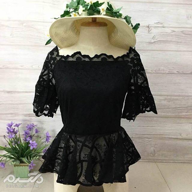 مدل لباس تاپ مجلسی گیپور