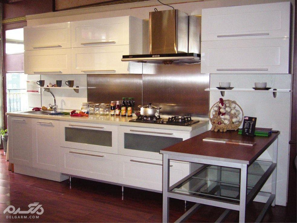 مدل کابینت آشپزخانه ام دی اف (MDF) شیک و کاربردی - دکوراسیون داخلی