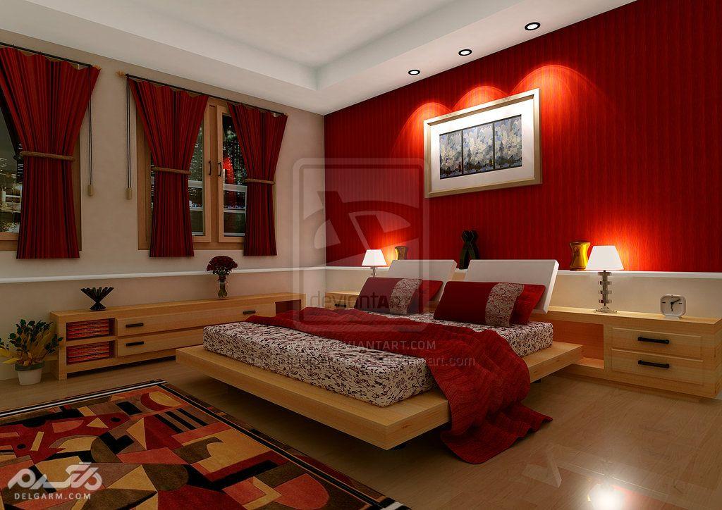 دکوراسیون اتاق خواب قرمز