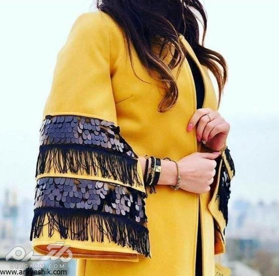 مدل مانتو بلند دخترانه شیک - مانتو بلند جدید 2018 - مدل مانتو بلند ترکی 2019 - دلگرم