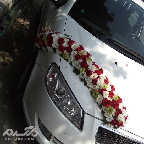 مدل تزیین ماشین عروس با گل طبیعی - مدل تزیین ماشین عروس 2018 - 97
