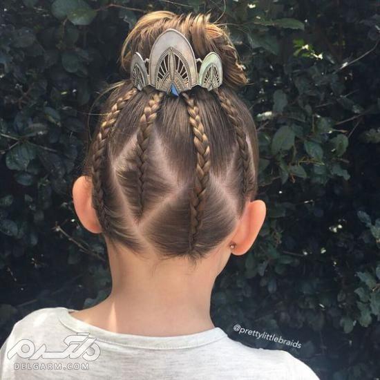 مدل موی دختر بچه ها - مدل بستن موی کوتاه بچه گانه - مدل مو دخترانه کودک