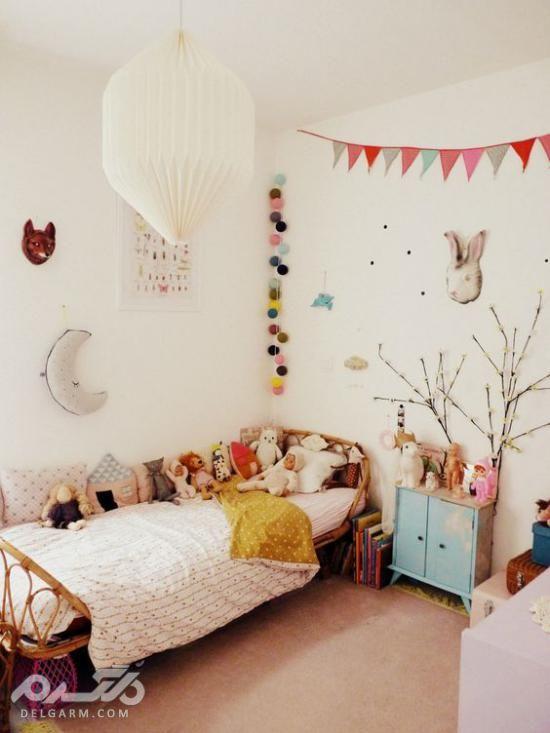 رنگ اتاق خواب دخترانه جوان - دکوراسیون اتاق خواب دختر 2018
