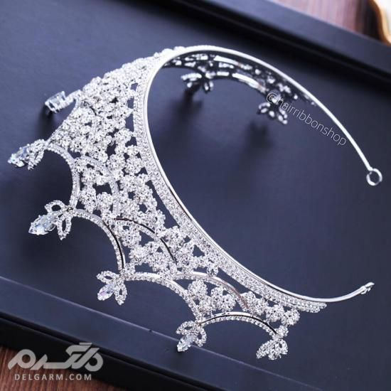 تاج عروس جدید و شیک - تاج عروس مدل ملکه ای
