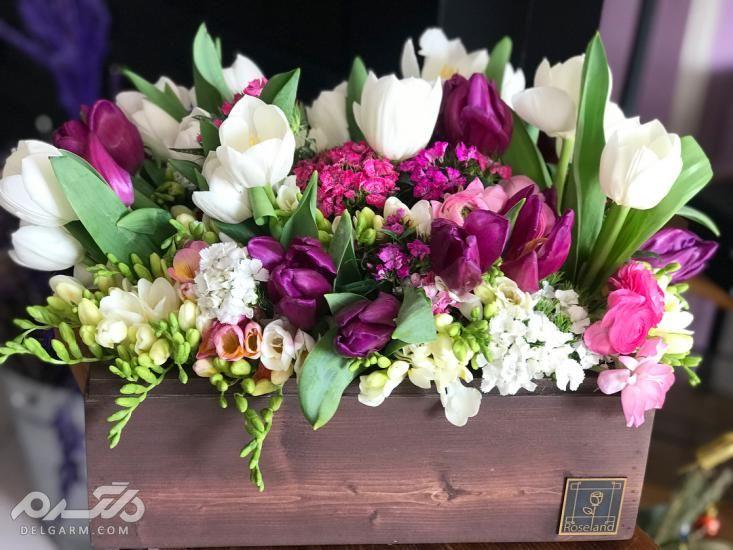 تزیین دسته گل طبیعی - تزیین دسته گل خواستگاری - تزیین دسته گل - تزیین دسته گل ساده