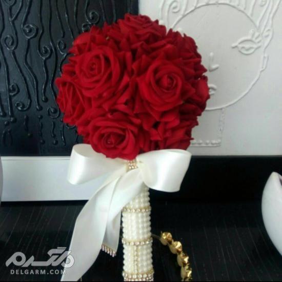 تزیین دسته گل عروس - دسته گل رز عروس - دسته گل عروس