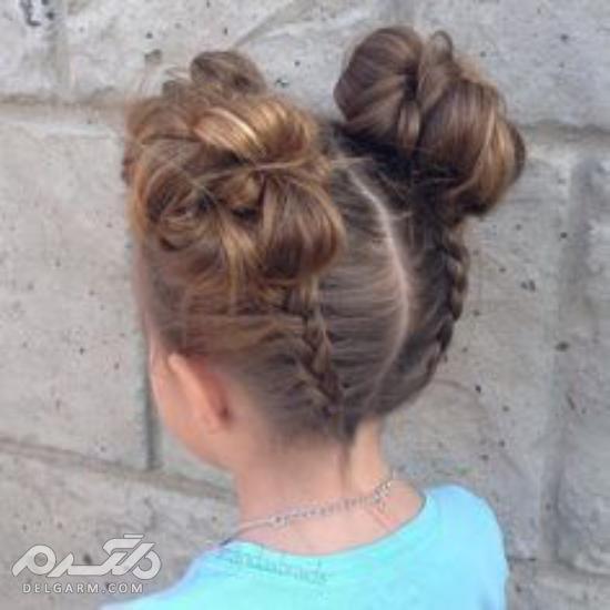 فیلم مدل موی دختر بچه ها  - مدل بستن موی کوتاه دختر بچه - اموزش بستن موی دختر بچه