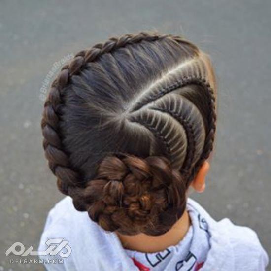 مدل مو دختر بچه کوتاه و بلند - مدل بستن موی کوتاه دختر بچه