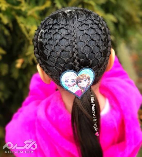مدل بستن موی کوتاه دختر بچه - اموزش بستن موی دختر بچه
