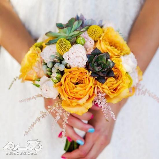 دسته گل عروس رز قرمز,دسته گل عروس