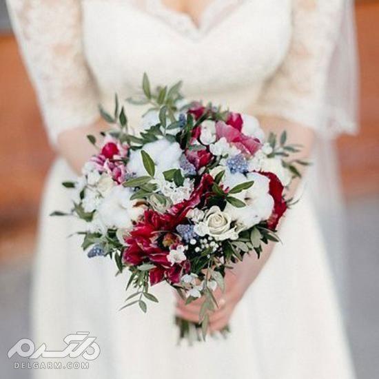 دسته گل لمسی عروس