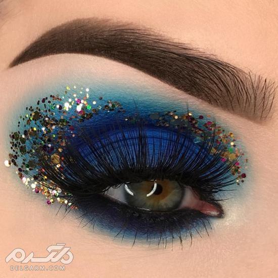 مدل سایه چشم عربی,,آرایش ملایم چشم