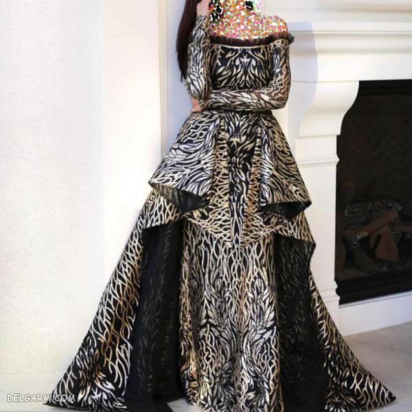 مدل لباس مجلسی گیپور ۹۸