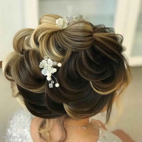 50 مدل شینیون خطی عروس جدید