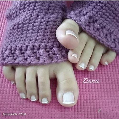 زیباترین مدل طراحی ناخن پا
