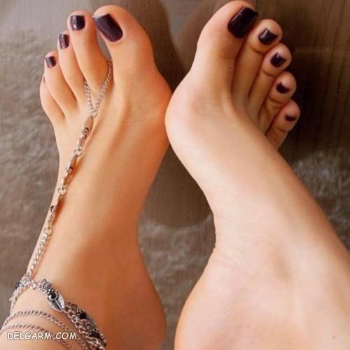 عکس پای لاک زده زیبا