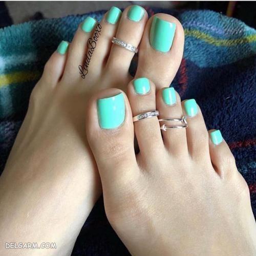 انواع مدل طراحی ناخن پا