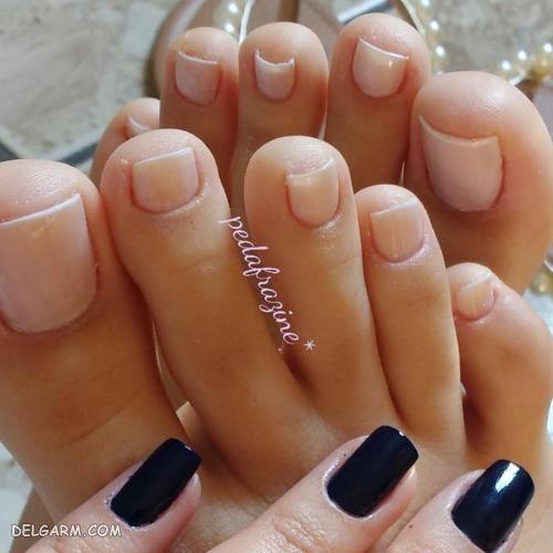 عکس طراحی ناخن پا زیبا