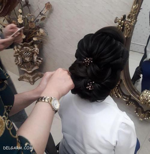 عکس مدل شینیون مو در اینستاگرام