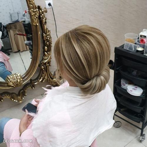 مدل شینیون مو پایین ۹۸
