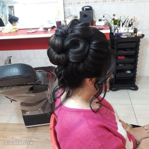 مدل شینیون موی نیمه باز