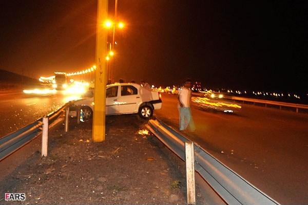 گزارش تصویری از سانحه تصادف همراهان سعید جلیلی