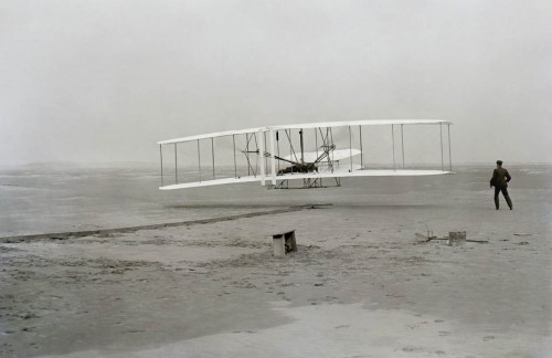 Wright brothers flew the first airplane