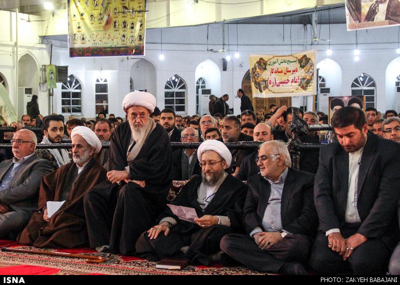 سالگرد شهدای ششم بهمن آمل با حضور آیت الله لاریجانی