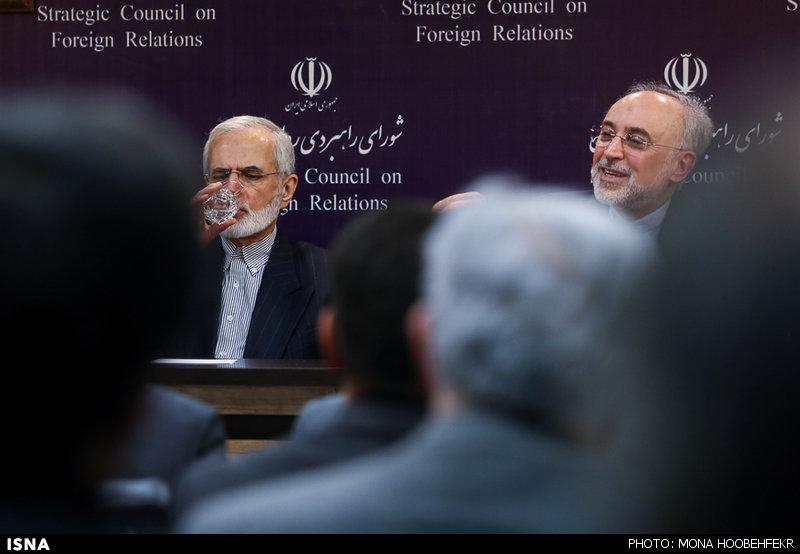 نشست علی اکبر صالحی و کمال خرازی، با موضوع برجام در شورای راهبردی روابط خارجی