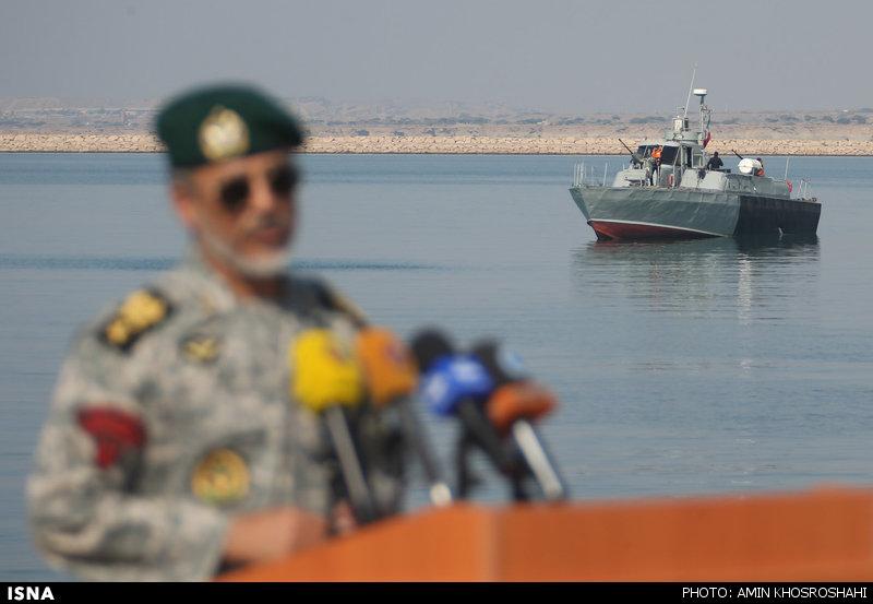 گفتگوی رسانهای فرمانده نیروی دریایی ارتش در رزمایش دریایی ولایت ۹۴ - کنارک