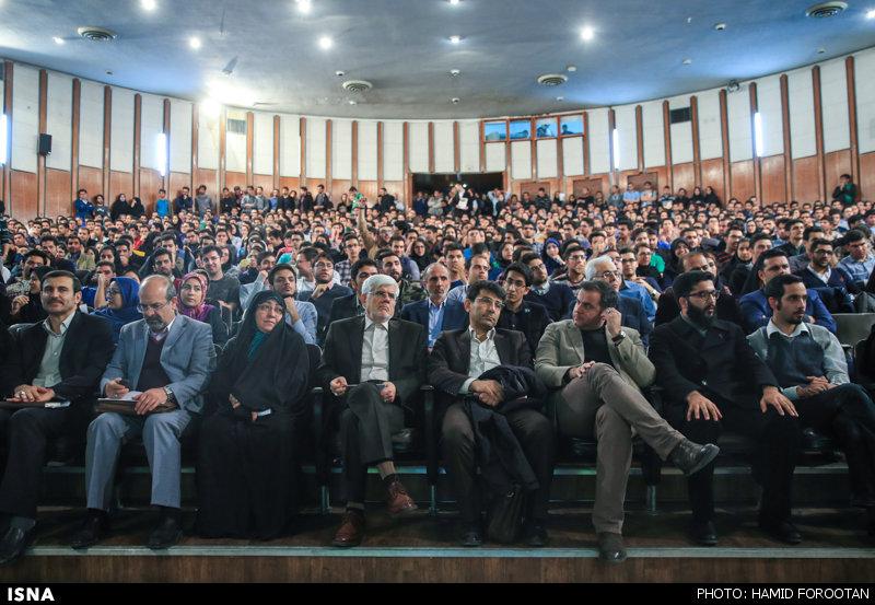 نشست محمدرضا عارف و سهیلا جلودار زاده از کاندیداهای اصلاحطلب در مجلس شورای اسلامی