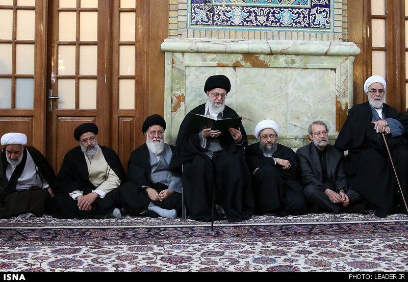 مراسم ترحیم مرحوم واعظ طبسی با حضور مقام معظم رهبری