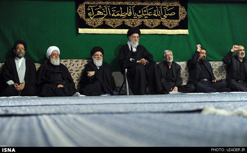 دومین شب مراسم عزاداری حضرت فاطمه زهرا(س) با حضور مقام معظم رهبری
